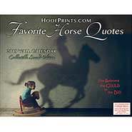 2019 Favorite Horse Quotes Calendar