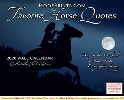 2020 Favorite Horse Quotes Calendar - www.hoofprints.com