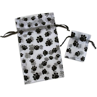 Pawprint Organza Gift Bag