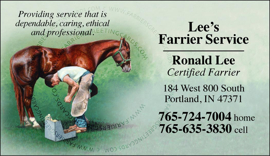 Custom business cards modern farrier design wgreen background www custom business cards modern farrier design wgreen background colourmoves