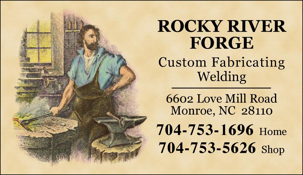 Custom Business Cards - Engraved Blacksmith Design-www.hoofprints.com