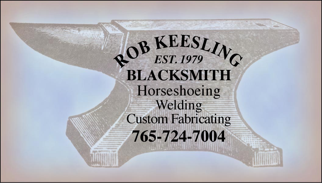 Custom Business Cards- Engraved Anvil Sign design-www.hoofprints.com