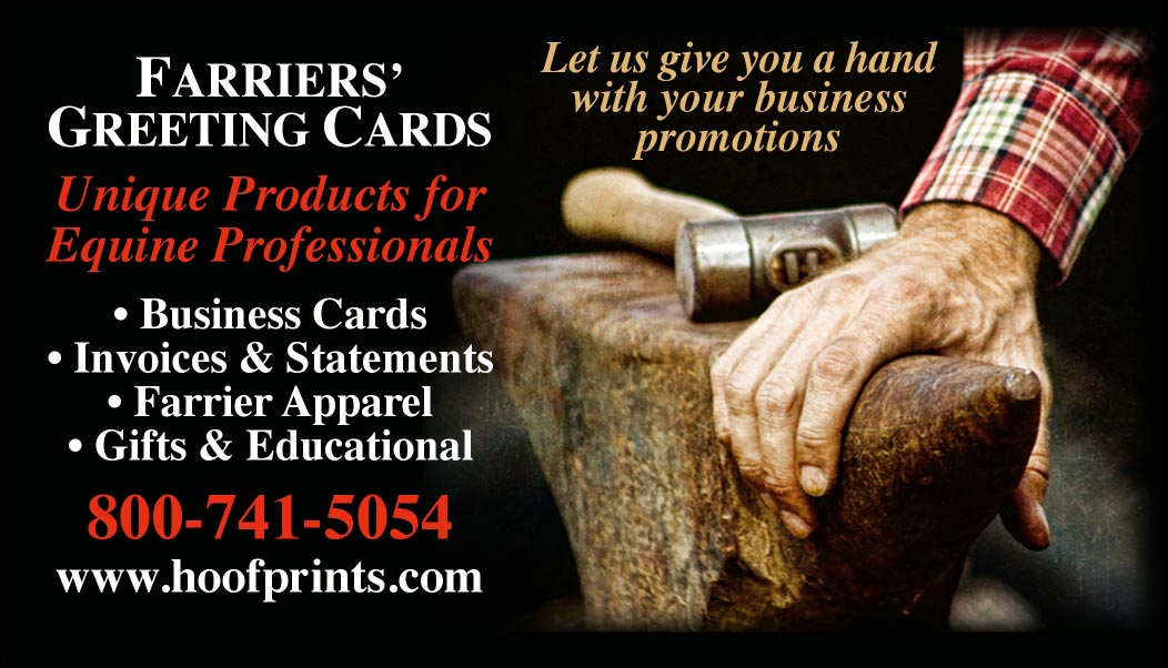 Custom Business Cards - Anvil & Hand design-www.hoofprints.com