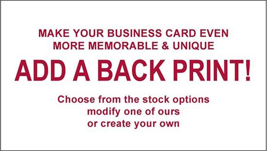 Back print design - 4 Boxes (2000) Business Cards-www.hoofprints.com