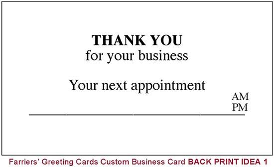 Back print design 3 boxes 1500 business cards hoofprints back print design 3 boxes 1500 business cards colourmoves