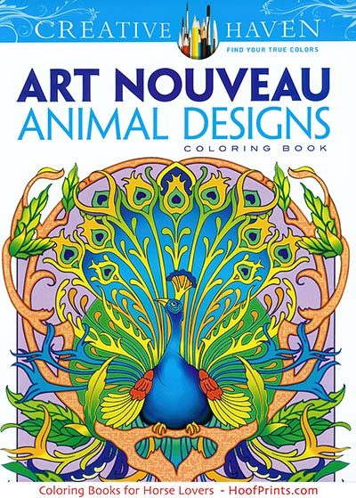 Art Nouveau Animal Designs Coloring Book Www Hoofprints Com