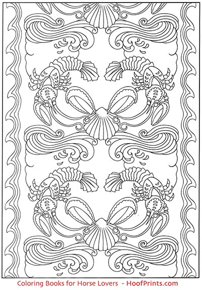 Art Nouveau Animal Designs Coloring