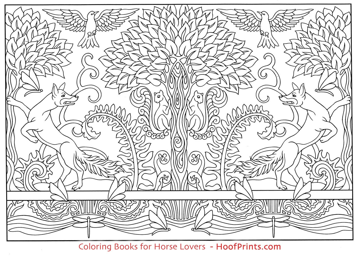 Art Nouveau Animal Designs Coloring Book Loading Zoom