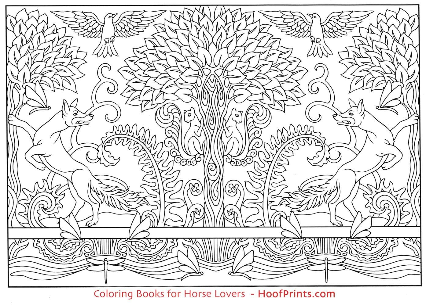 Art Nouveau Animal Designs Coloring Book Www Hoofprints Com