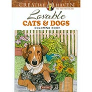 Lovable Cats & Dogs Coloring Book