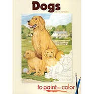 Dogs to Paint or Color Coloring Book