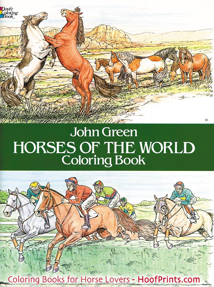 Horses of the World Coloring Book-www.hoofprints.com