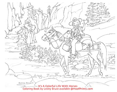 Its A Colorful Life With Horses Coloring Book FREE SHIPPING ON THIS ...