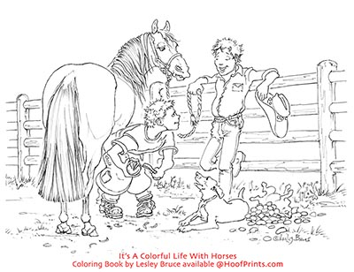 Its A Colorful Life With Horses Coloring Book - www ...
