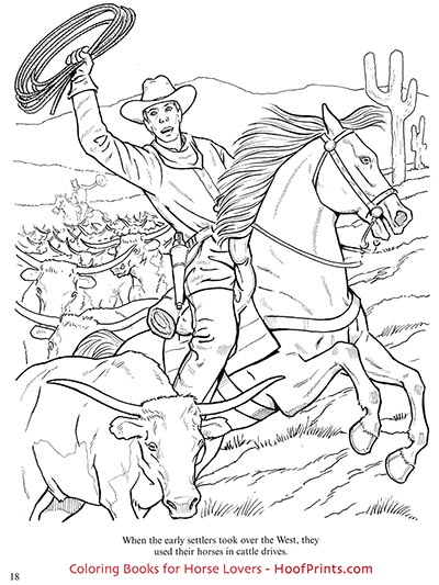 Horses Of The Old West Coloring Book Www Hoofprints Com