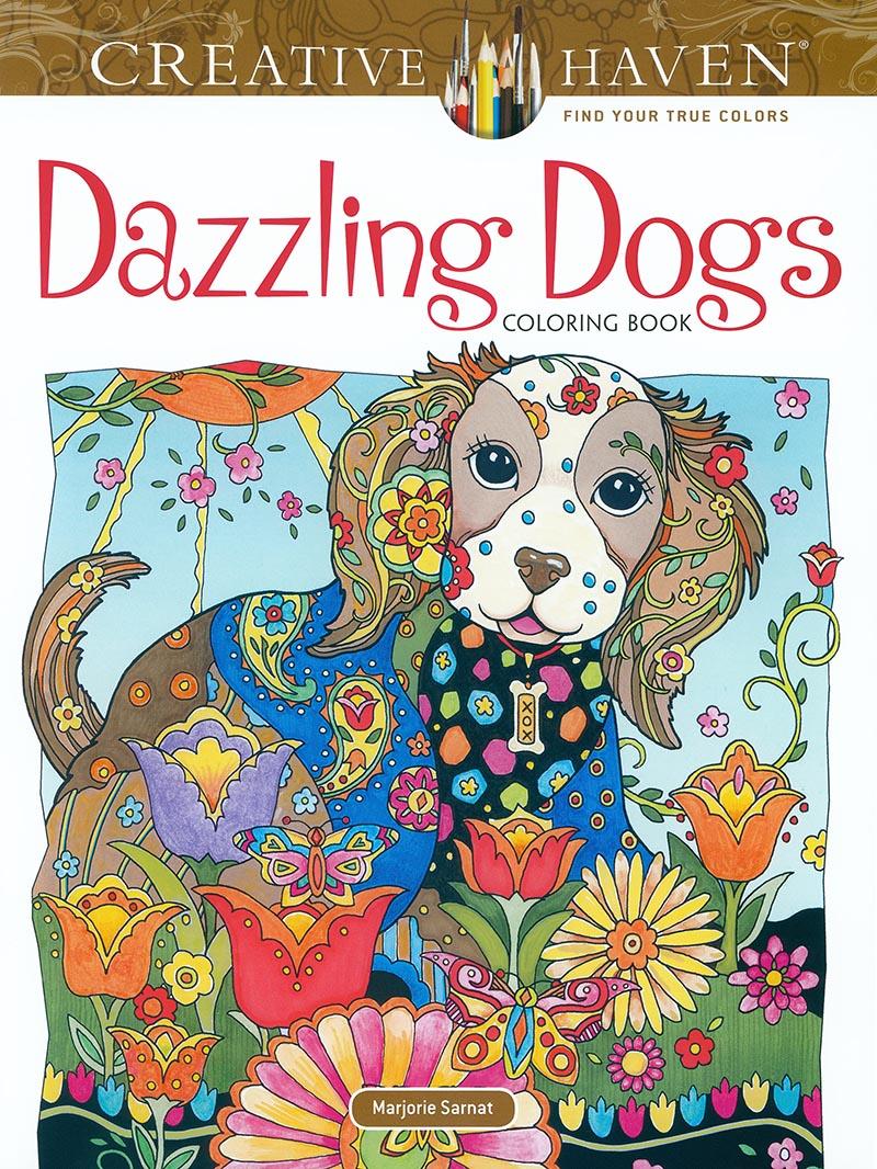 Dazzling Dogs Coloring Book-www.hoofprints.com