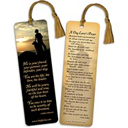 Dog Lovers Prayer Bookmark w/ Gold Tassel