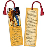Riders Prayer Bookmark with Red Tassel