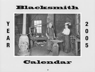 Blacksmith Calendar of Vintage Images - BACK ISSUES *$1.00 - LIMIT 1*
