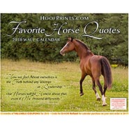 2018 Favorite Horse Quotes Calendar FREE SHIPPING