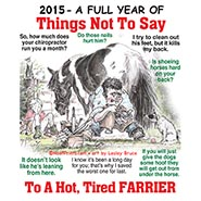 FREE WITH EVERY ORDER! Things Not to Say to a Farrier Magnetic Business Card Calendar