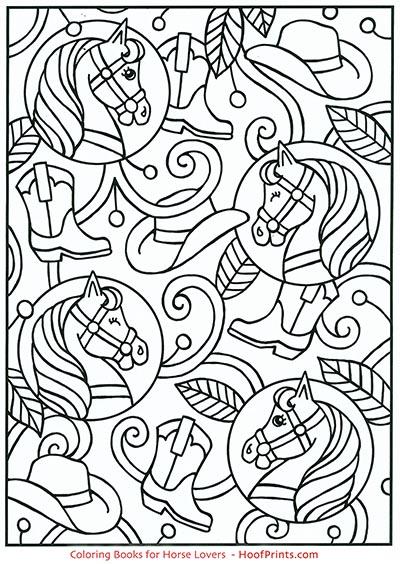 Spark Horses Coloring Book-www.hoofprints.com