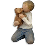 Kindness Boy & Dog Figurine