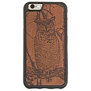 Oberon Design Leather Clad Cell Phone Case - ONLY ONE AVAILABLE