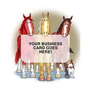 3 Horses Business Card Holder Card