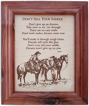 Don't Sell Your Saddle