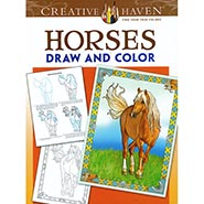 Horses Draw & Color Coloring Book