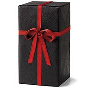Black Leather Heavy Embossed Gift Wrap Roll