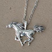 Sterling Silver Arabian Horse Necklace