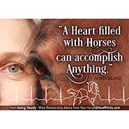 A Heart filled with Horses can Accomplish Anything Inspirational Magnet *FREE while supplies last!*