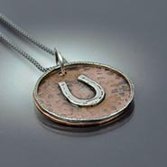 Copper and Sterling Silver Horseshoe Necklace