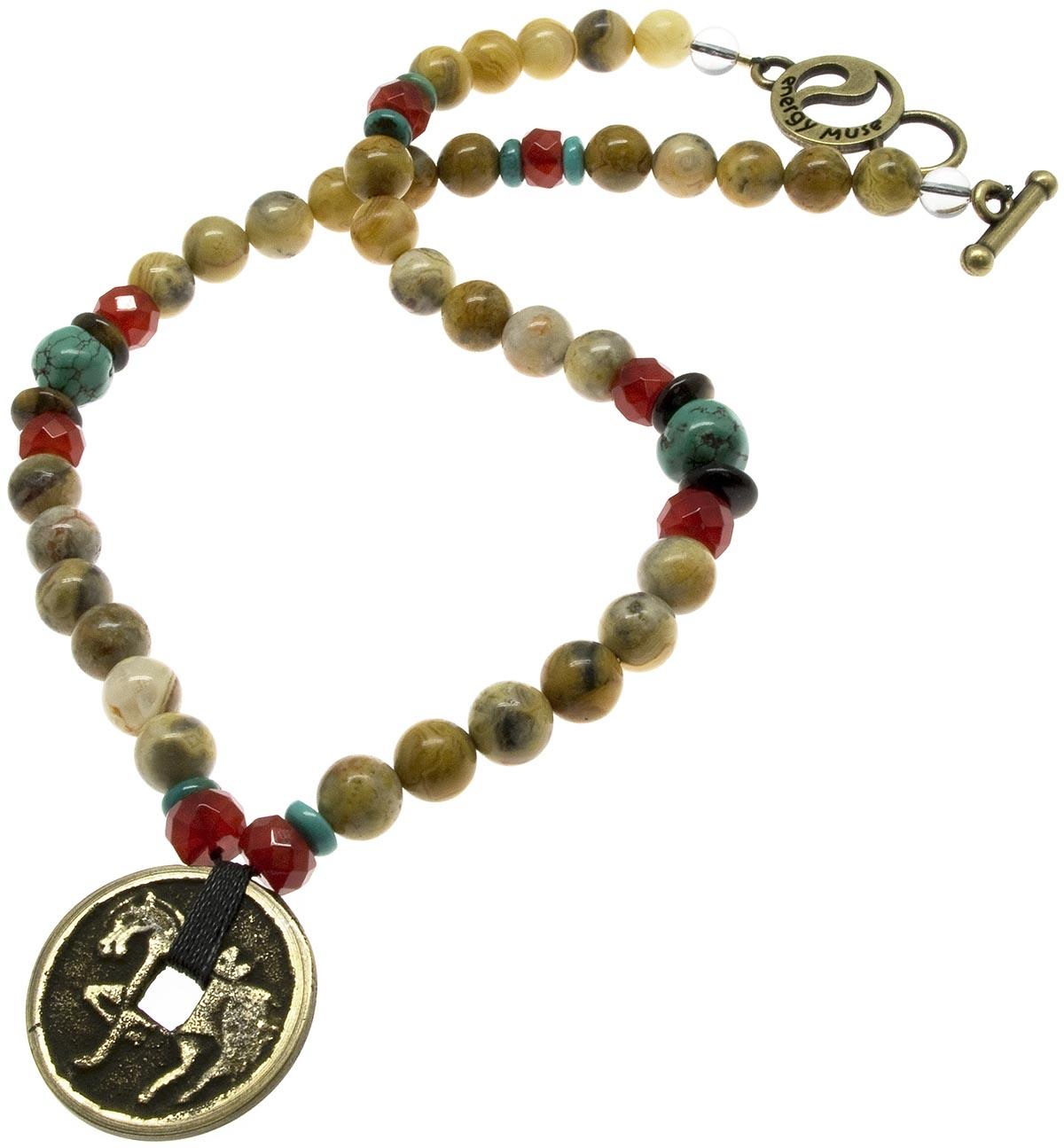 Spirit Gemstone   Coin Necklace - 20% OFF!-www.hoofprints.com 26db55d74e2