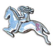 Riding for a Cure Sterling Silver Brooch
