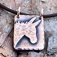 Hammered Donkey Silhouette Necklace