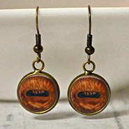 Glass Dome Horse Eye Earrings