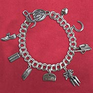 Horse Care Tools Sterling Silver Charm Bracelet