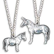 Sterling Silver Donkey & Mule Necklaces