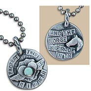 Protect this RIDER Pewter Pendant on Ball Chain