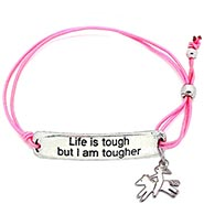 Stretch Bracelet PINK - Life Is Tough