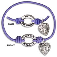 Stretch Bracelet - LAVENDER Count Your Blessings