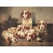 A Kennel at Ease Numbered Limited Edition Clumber Spaniel Print by John Emms ONLY ONE AVAILABLE