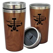 Farrier Tools Wood Grain Stainless Travel Cup