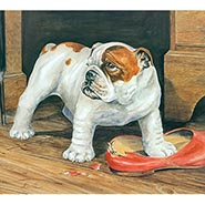 More Trouble Bulldog Signed & Numbered Limited Edition Print by Alan Ellison