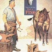 Time to Retire Farrier & Mule Print