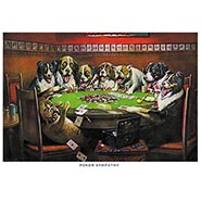 Poker Sympathy Poker Dogs Print by C M Coolidge