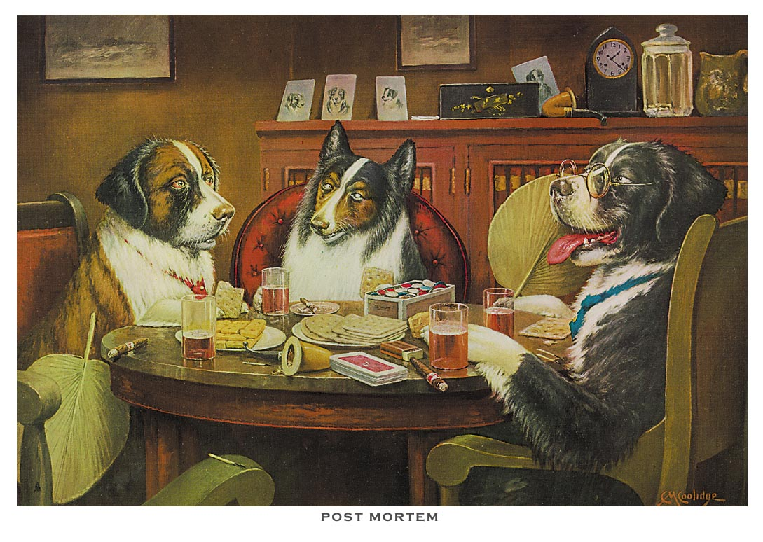Post Mortem Poker Dogs Print By C M Coolidge Www